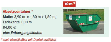 10m3 Absetzcontainer©BAWN